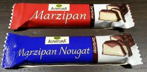 Neu bei Alnatura: Marzipan-Nougat-Riegel