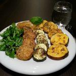 Tempeh mit Zucchini und Süßkartoffeln